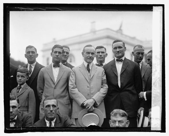 Coolidge and Washington baseball players