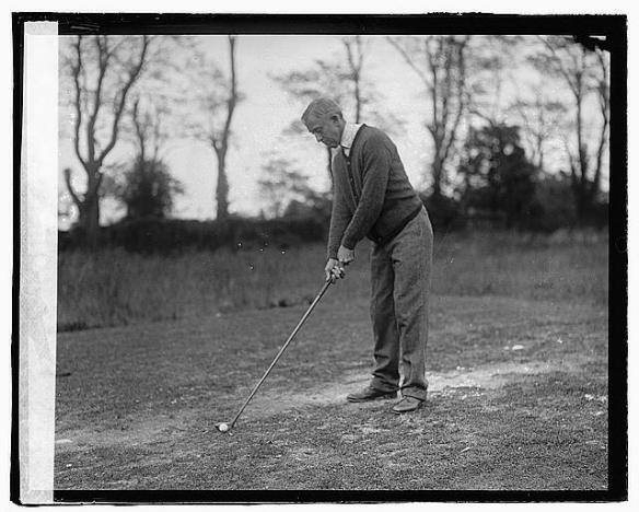 C. Bascom Slemp teeing up