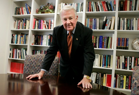 Edwin Meese in his Heritage Foundation office, 2005